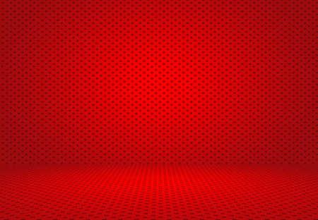 red polka dots: Extracto rojo de lunares de fondo de San Valentín Navidad diseño de diseño, estudio, sala, plantilla web, informe de Bussiness con círculo de color degradado suave.
