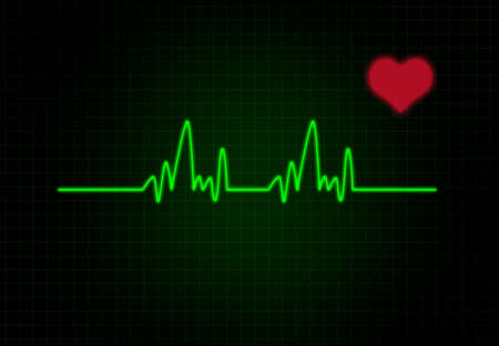 frequency: Cardiac Frequency with heart shape.