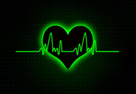 Cardiac Frequency with heart shape.