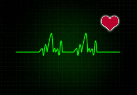 cardiac: Cardiac Frequency with heart shape.