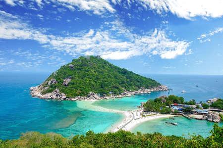코 Nangyuan, 수랏 타니, 태국 스톡 콘텐츠