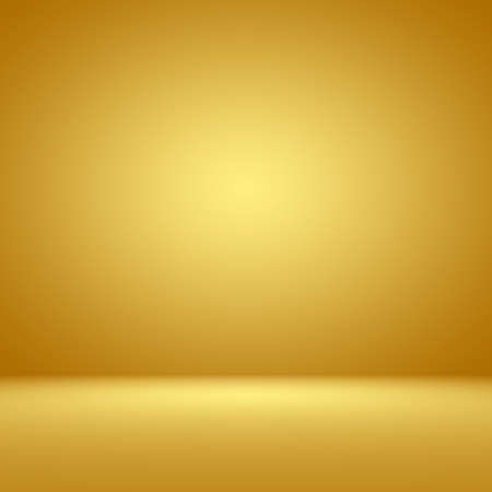 studio: Luxury Gold Studio well use as background,layout and presentation. Stock Photo