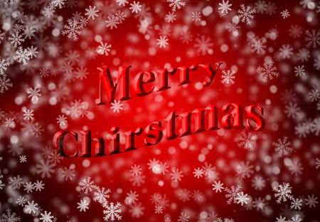 christmas backdrop: Merry Christmas wording with snowflake background well use as backdrop.