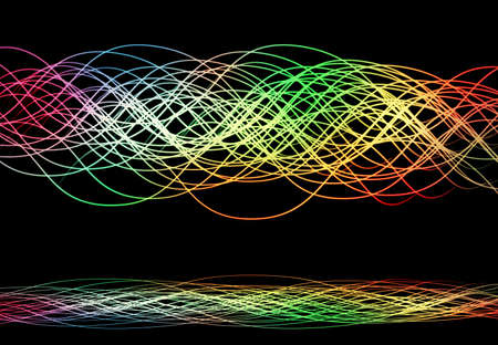 line wallpaper: Abstract colourful light line wallpaper