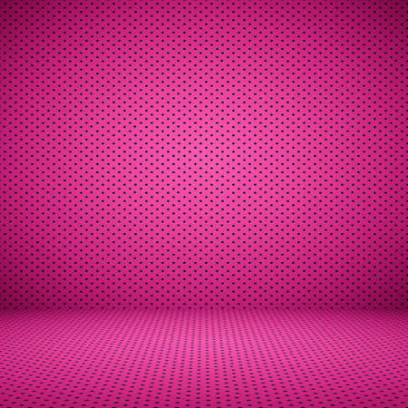 black and pink: abstract Pink well using as background Valentine with Polka Dot Stock Photo