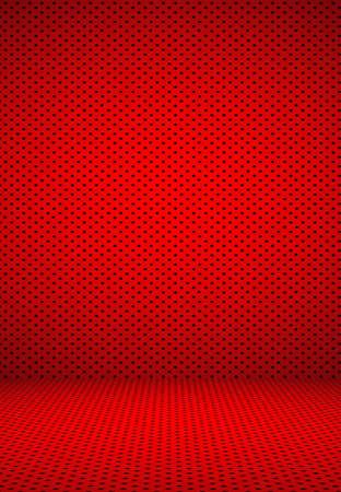 red polka dots: Extracto rojo de lunares de fondo de San Valentín Navidad diseño de diseño, estudio, sala,, modelo, plantilla web, informe de Bussiness con círculo de color degradado suave. Foto de archivo