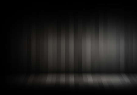 studio: Empty Stripes Grey with Black vignette Studio backdrop well use as background. Stock Photo