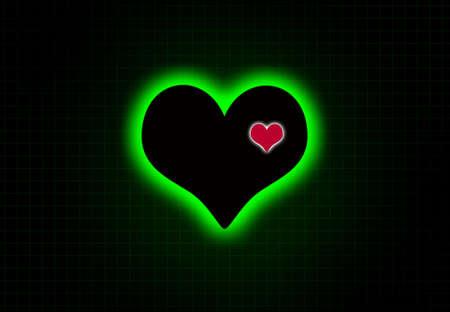 rhythm: Cardiac heart beat monitor. Stock Photo
