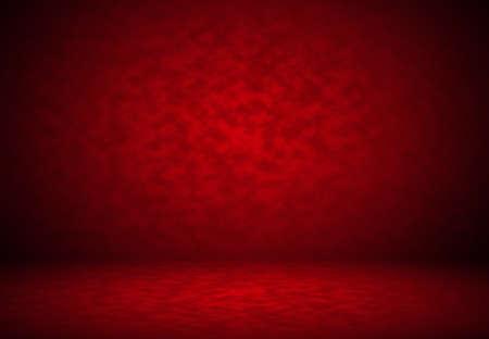 fondo rojo: Dise�o abstracto de fondo rojo de San Valent�n Navidad dise�o, estudio, sala, plantilla web, informe de negocios con c�rculo de color degradado suave.