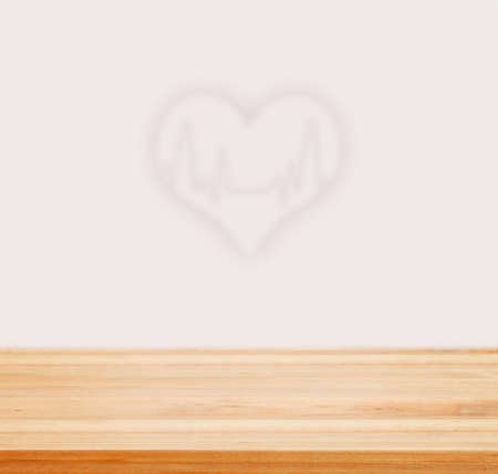 electrocardiograph: Table top counter with Cardiac Frequency with heart shape. - well used for present and promote Health care products.