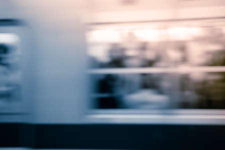 fast train: Fast train with motion blur.