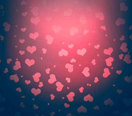 monocrome: Vintage monocrome -  Valentines background with hearts