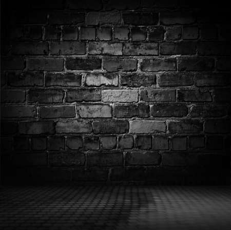 Old black wall background. Texture with border black vignette background Studio backdrop - well use as back drop background, black board, black studio background, black gradient frame.