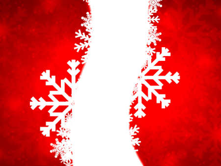 Red christmas background with white snowflakes Stock Photo