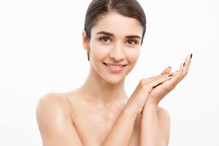 Beautiful Woman Face Portrait Beauty Skin Care Concept Beautiful
