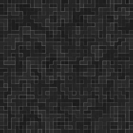 Abstract Seamless Pattern. Luxury Black Mosiac Texture abstract ceramic mosaic adorned building. Abstract colored ceramic stones.