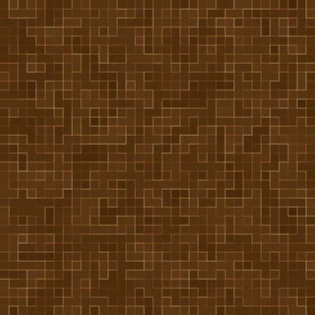 Colored ceramic stones. Abstract Smooth Brown Mosiac Texture abstract ceramic mosaic adorned building. Abstract Seamless Pattern.