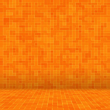 Abstract colorful geometric pattern, Orange, Yellow and Red stoneware mosaic texture background, Modern style wall background. Foto de archivo - 117113949