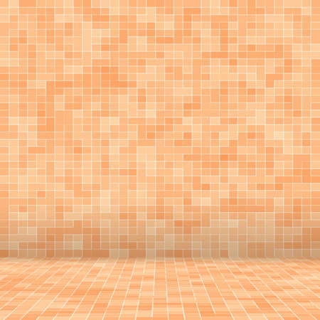 Abstract colorful geometric pattern, Orange, Yellow and Red stoneware mosaic texture background, Modern style wall background. Foto de archivo - 117114094
