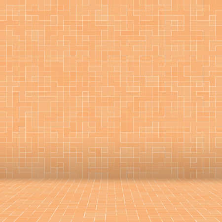 Abstract colorful geometric pattern, Orange, Yellow and Red stoneware mosaic texture background, Modern style wall background Archivio Fotografico