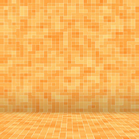 Abstract colorful geometric pattern, Orange, Yellow and Red stoneware mosaic texture background, Modern style wall background Foto de archivo - 118511091