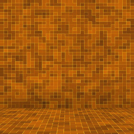 Abstract colorful geometric pattern, Orange, Yellow and Red stoneware mosaic texture background, Modern style wall background Foto de archivo - 118511093