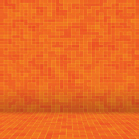 Abstract colorful geometric pattern, Orange, Yellow and Red stoneware mosaic texture background, Modern style wall background. Foto de archivo - 118643769