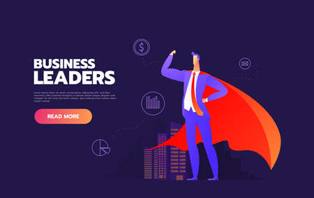 Business Leader Business people looking up at their leader. The leader and column and background are on separately labeled layers. Stock Vector - 135220784