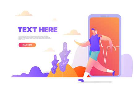 Unique Modern flat design concept of Sport Activity for website and mobile website. Landing page template. Vector illustration Ilustración de vector
