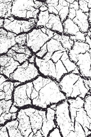 Grunge cracked clay ground, drought land background. 일러스트