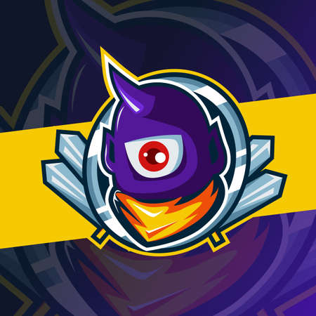 bee or hornet mascot esport  template, suitable for your game team, business, and personal branding Ilustracja