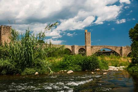 seething: A gothic bridge Stock Photo