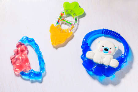 teether: Set of teethers for newborn baby