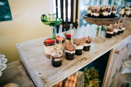 Delicious wedding reception candy bar, wedding diy