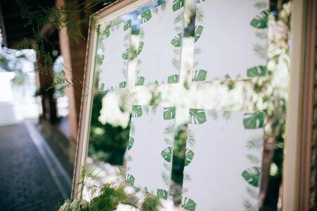 Wedding mirror board with guest list, wedding diy decoration