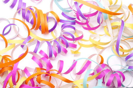 party streamers: Party streamers isolated Stock Photo