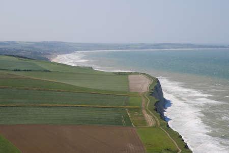 the major tide: cliffs near Calais Stock Photo