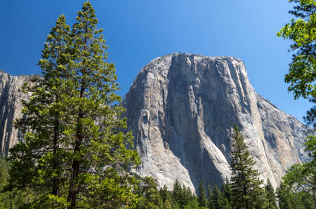 Monolith: A typical granite monolith in Yosemite National Park Stock Photo