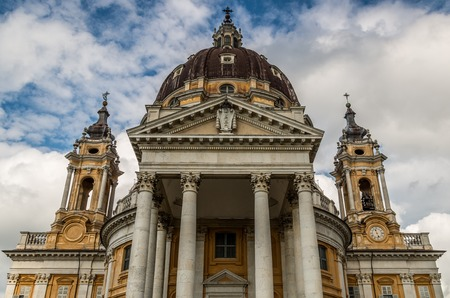 recollection: View of the Basilica of Superga, in Turin - Italy Stock Photo
