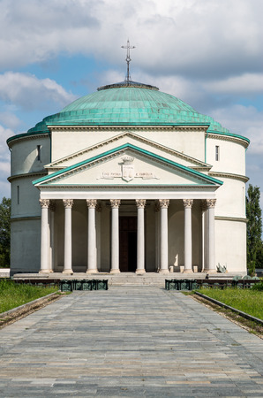 neoclassic: A little Pantheon in Turin - Italy Stock Photo