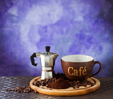 Coffè mocha and cup Stock Photo