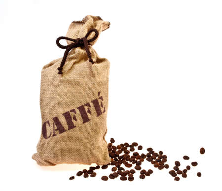 Jute sack with coffee beans