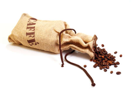 Jute sack with coffee beans  photo