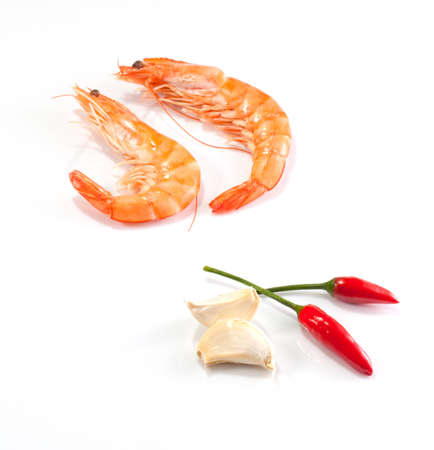 Garlic and chilli prawns photo