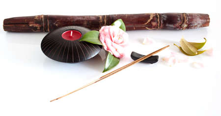 Incense and flower photo