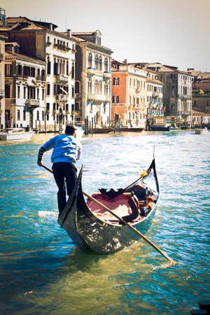 holidays vacancy: Gondoliere, Venice  Stock Photo