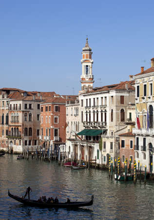 Gondolier in Venice photo