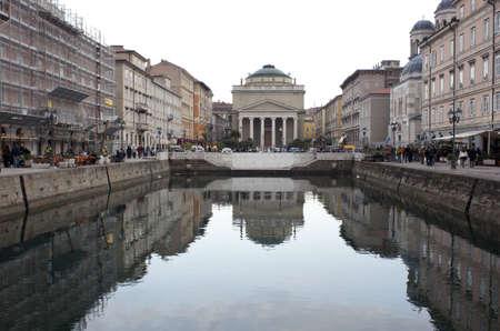 pilasters: St.  Antonio Cathedral, Trieste Stock Photo