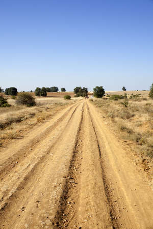 Furrows on a fiel in Spain Stock Photo - 9549589