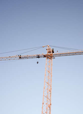 hoists: Crane on the blue sky Stock Photo
